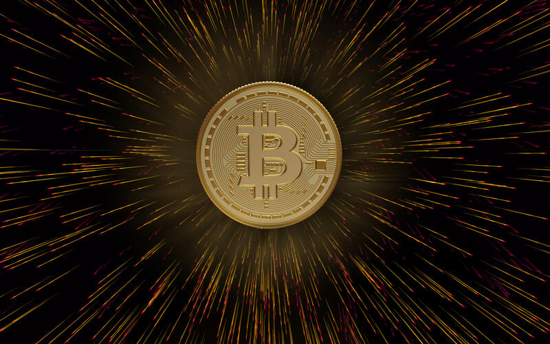 digitally generated bitcoin composition