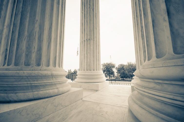 The US Supreme Court and Capitol Building - Washington DC