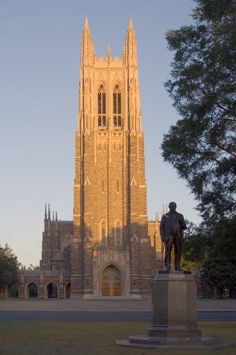 Duke University Chapel in the morning