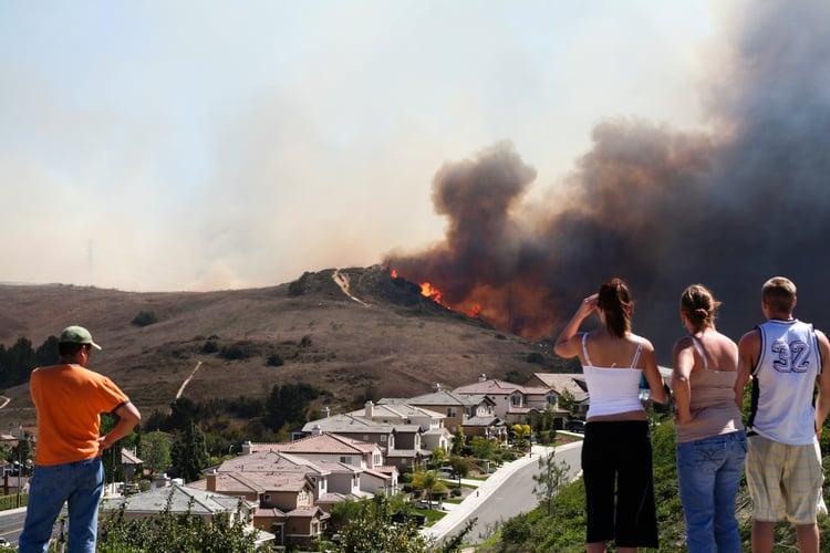 Brush Fire Threatening Homes