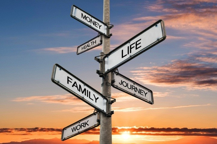 Sign post of life decisions