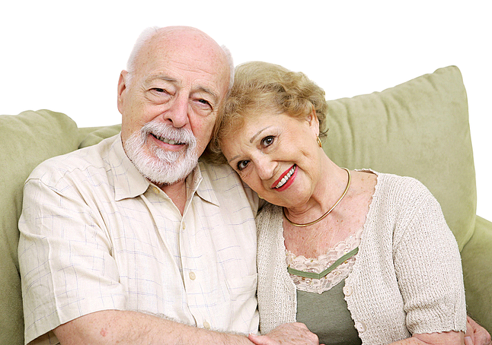 Retired couple discussing retirement misconceptions