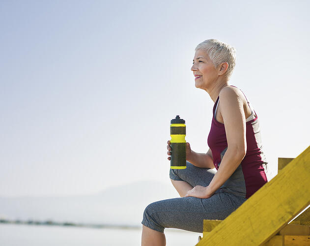 Women hiking thinking about retirement