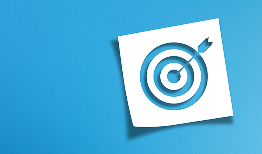 target with blue arrow