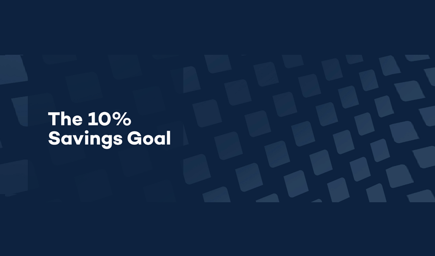 10% savings goal